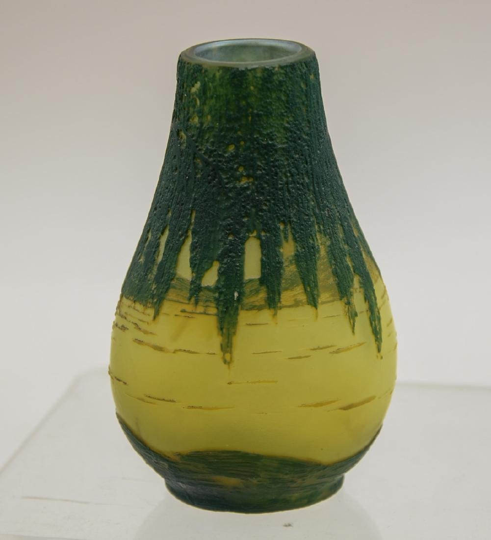 French Art Glass: Devez Cameo Vase - 3