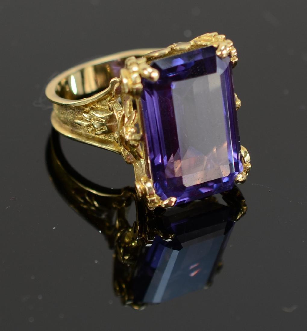 Antique Ladies 14K Amethyst Ring