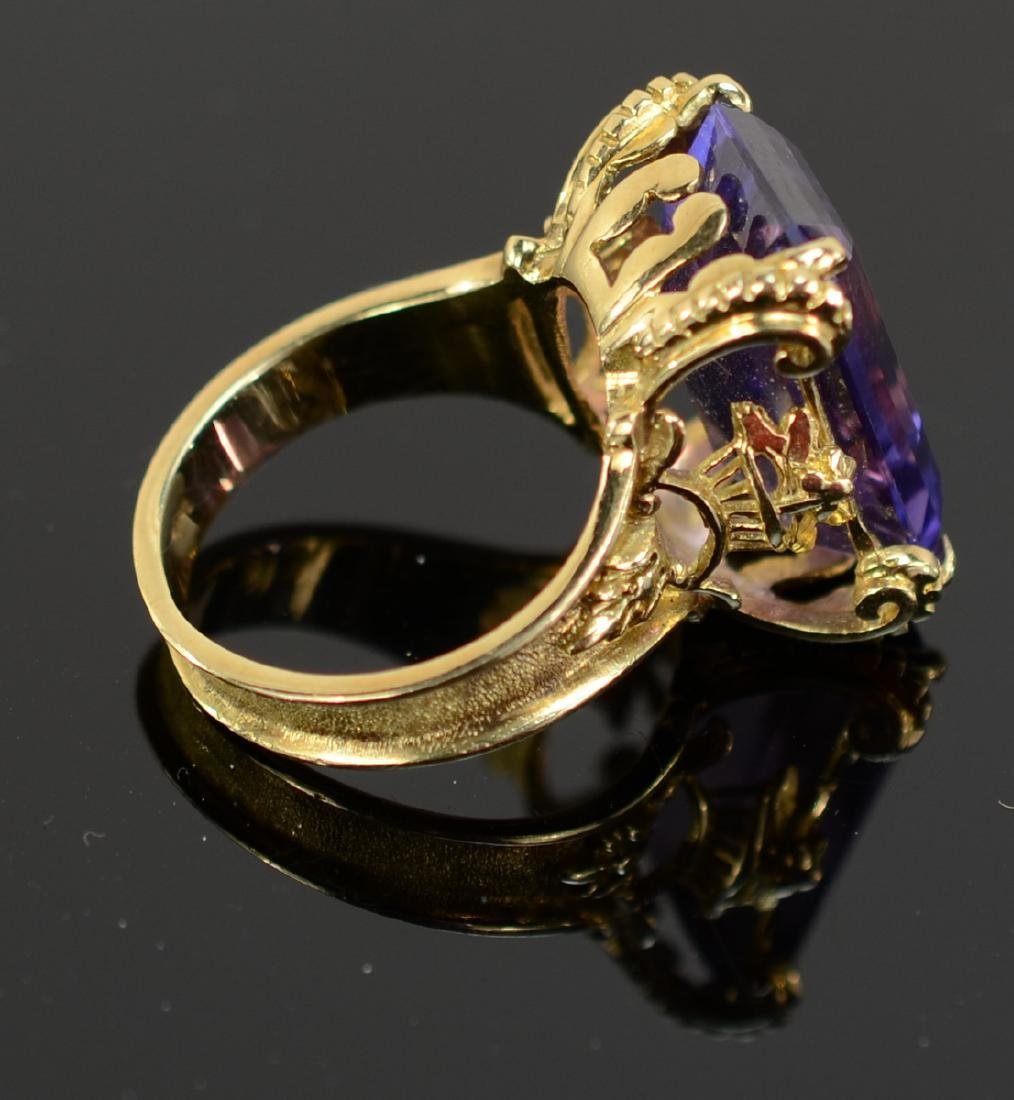 Antique Ladies 14K Amethyst Ring - 2