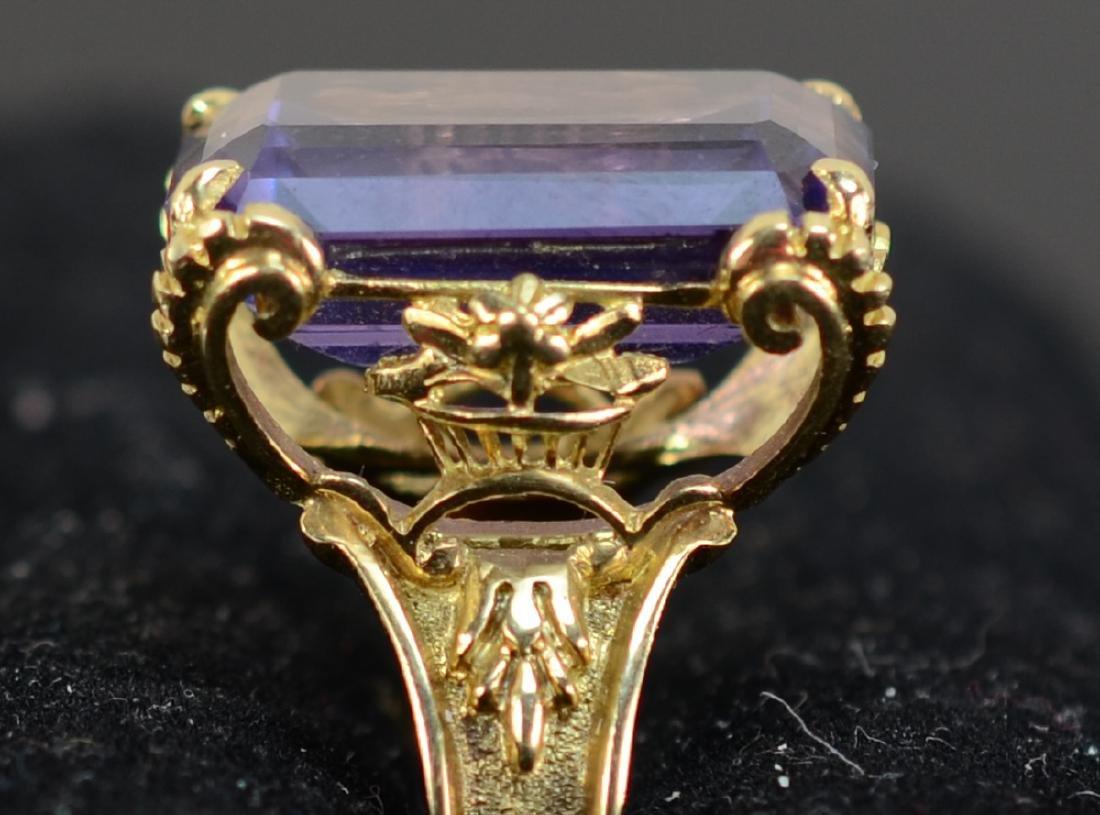 Antique Ladies 14K Amethyst Ring - 3