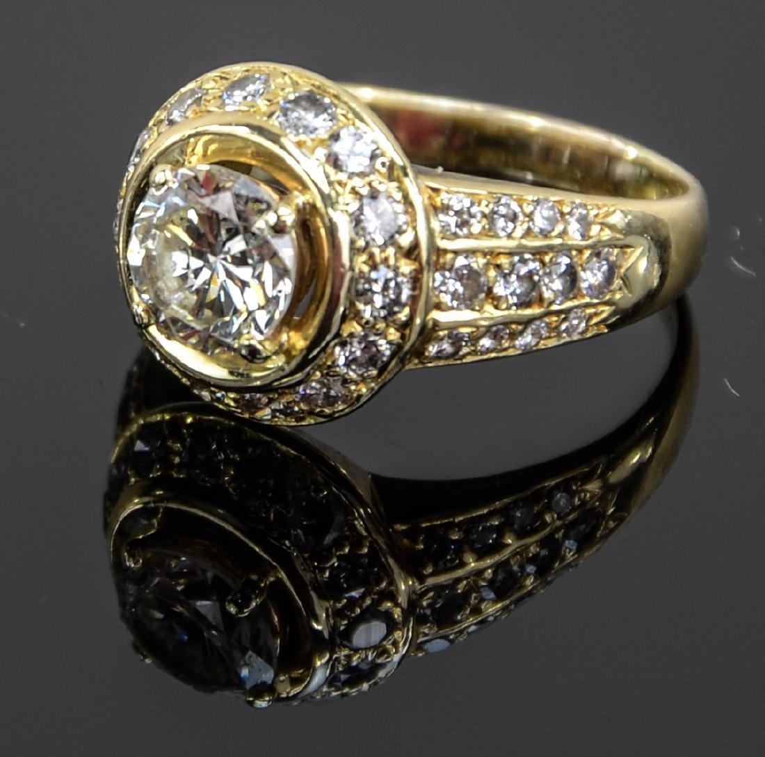 Ladies 18K Diamond Engagement Ring