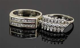 Two 14K Diamond Rings