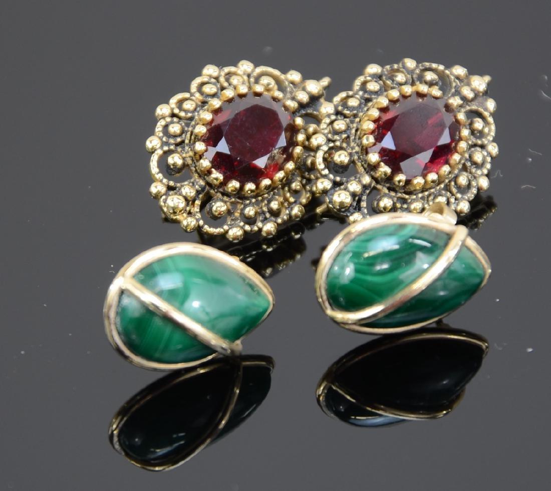 Two Pair Ladies 14K Earrings