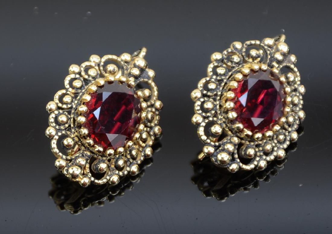 Two Pair Ladies 14K Earrings - 2