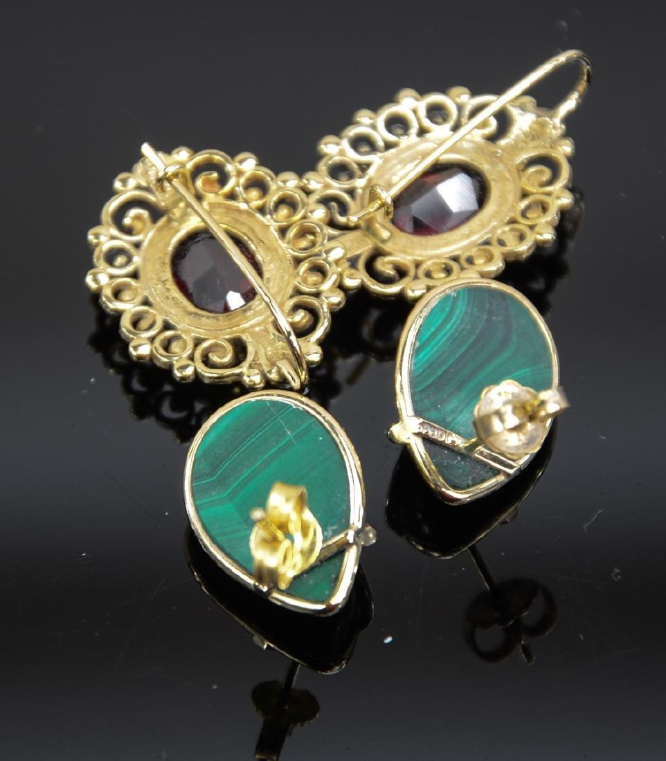 Two Pair Ladies 14K Earrings - 4