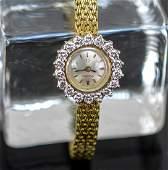 Ladies 18K & Diamond Omega Wrist Watch