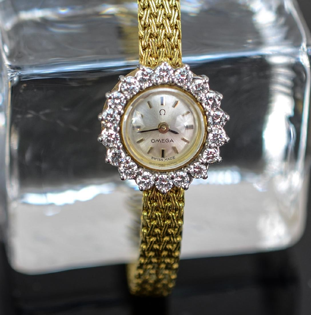 Ladies 18K & Diamond Omega Wrist Watch