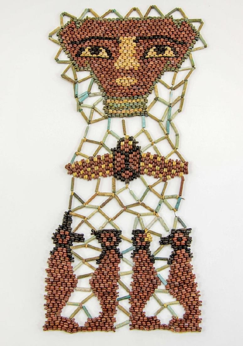Ancient Egyptian Faience Mummy Bead Face Mask