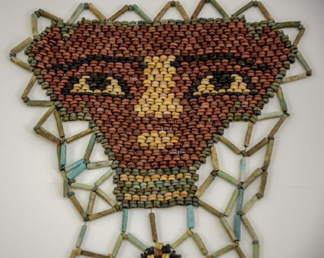 Ancient Egyptian Faience Mummy Bead Face Mask - 4