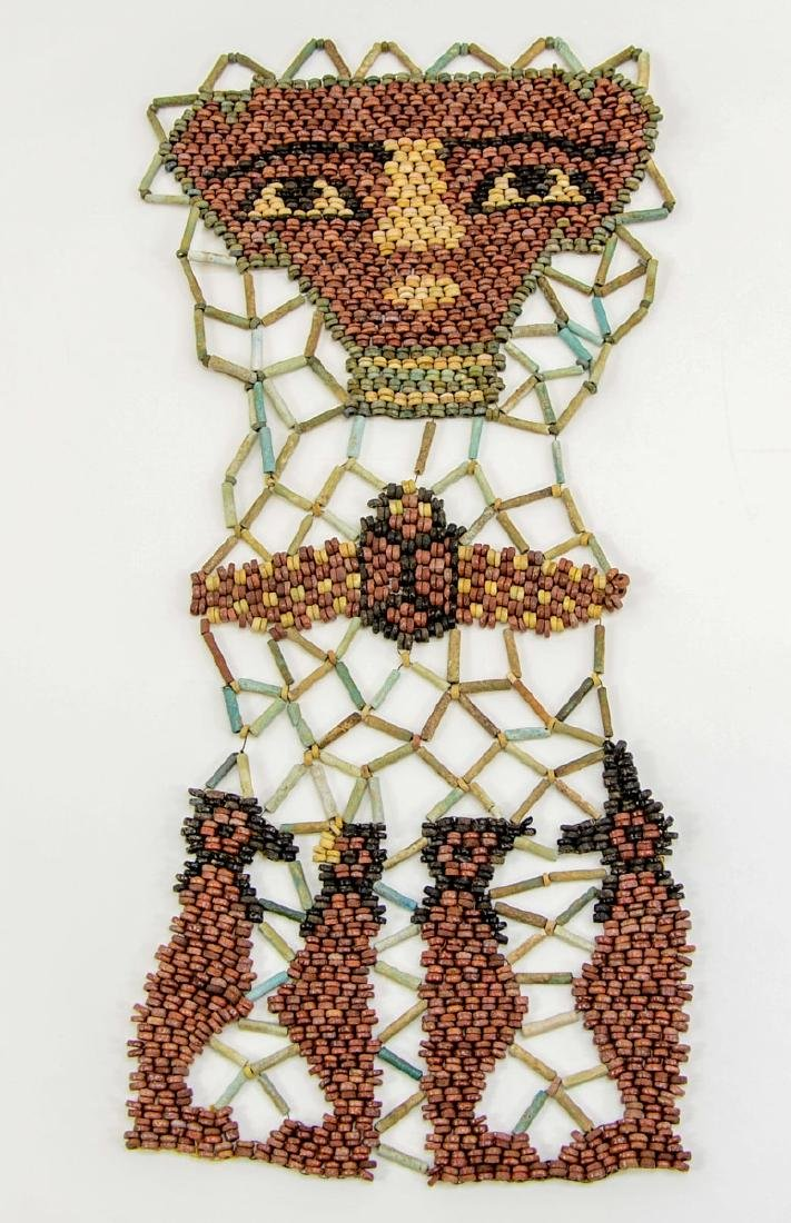 Ancient Egyptian Faience Mummy Bead Face Mask - 5