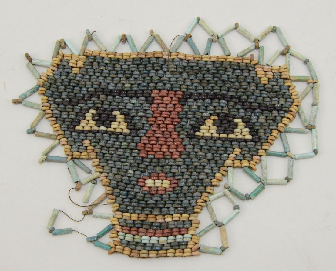 Ancient Egyptian Mummy Bead Face Mask - 2