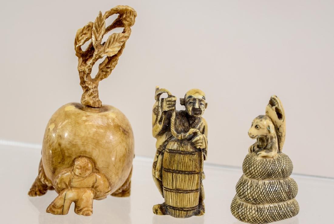 Three Asian Bone Carvings