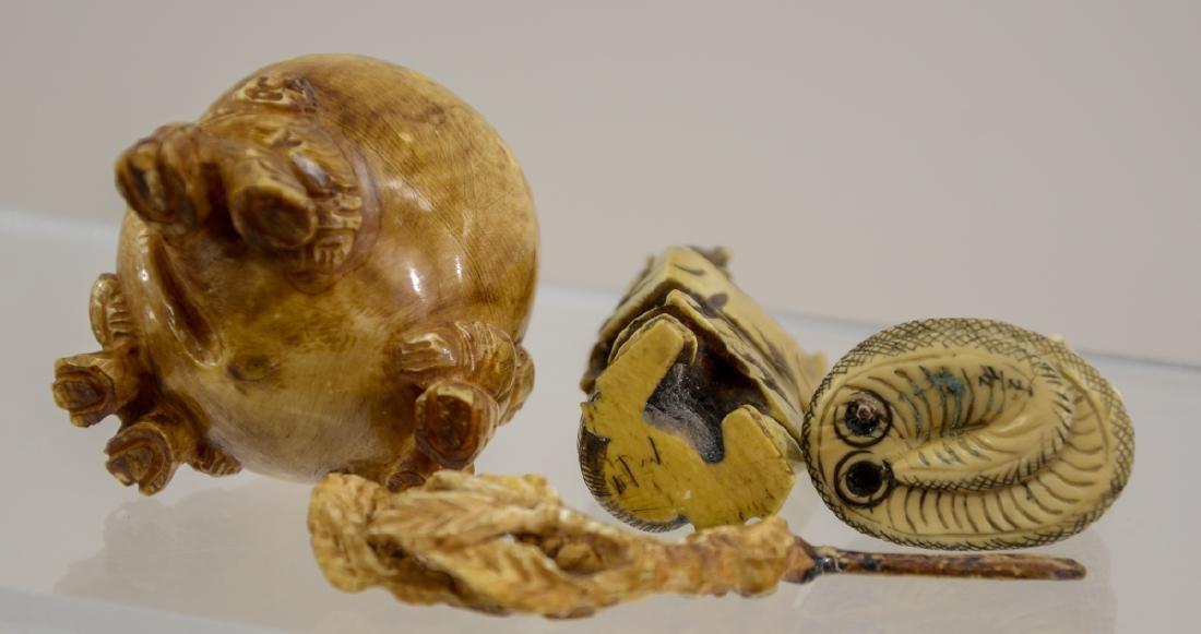 Three Asian Bone Carvings - 2
