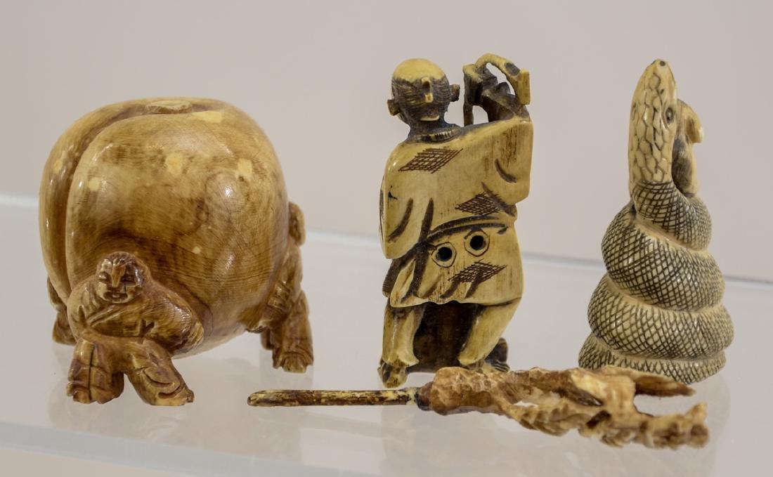 Three Asian Bone Carvings - 3