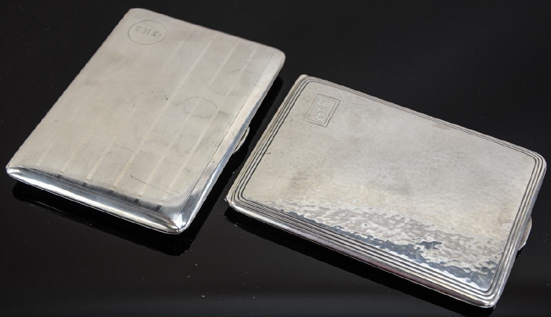 Two Sterling Silver Cigarette Cases