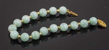 Ladies 14K Jade Bracelet