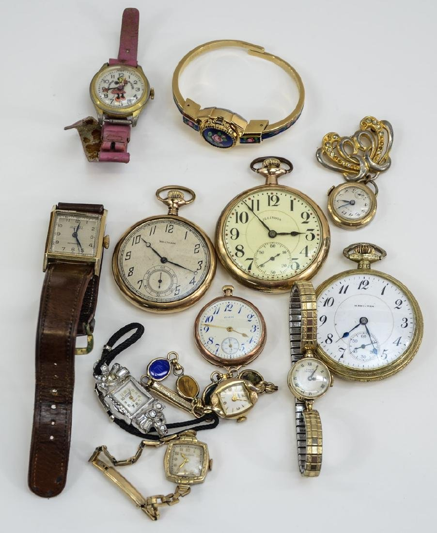Estate Wrist and pocket watch group