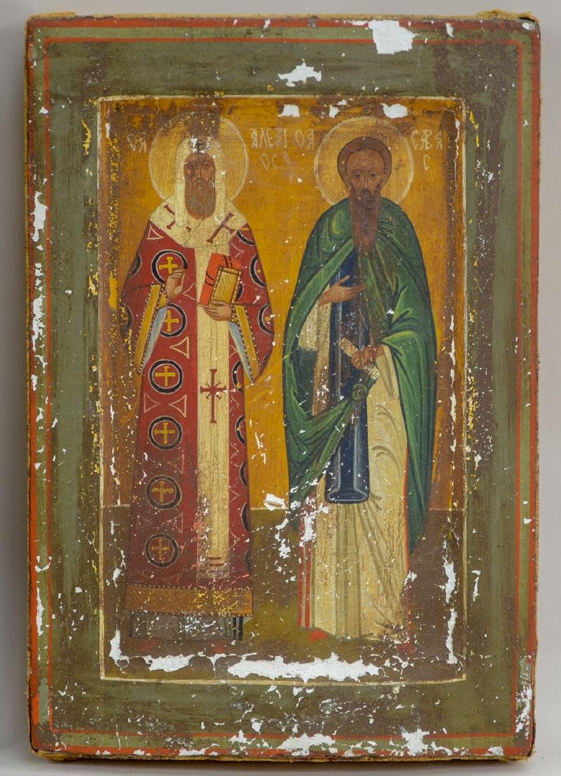 Two Antique Russian Orthodox Icons - 2