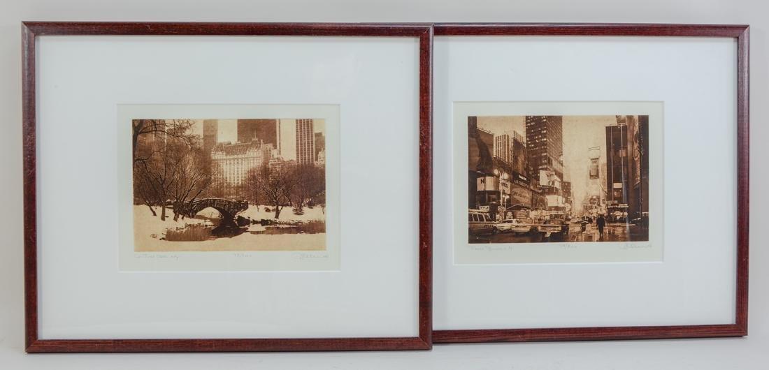 Michael Leu: Two Photo Etchings
