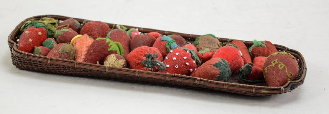 Group of Antique Strawberry pincushions