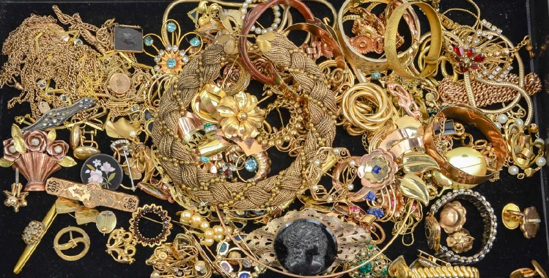 Large Group of Gold Filled Fashion Jewelry