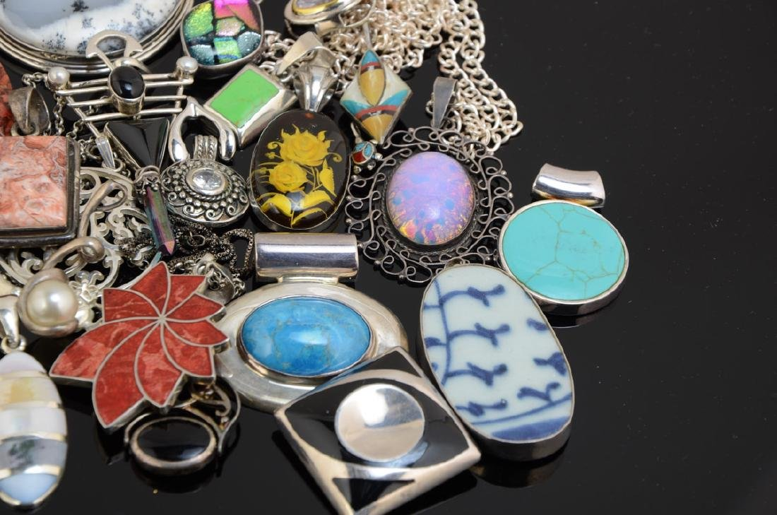Group of Silver and other pendants - 2