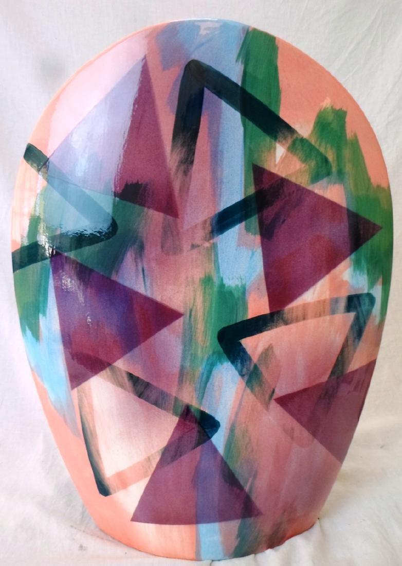 Mid-Century Hand-Painted Vase by John Bergen