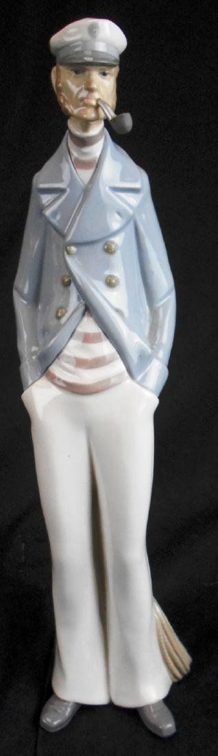 Lladro Figurine #4621 Sea Captain With Pipe Sailor