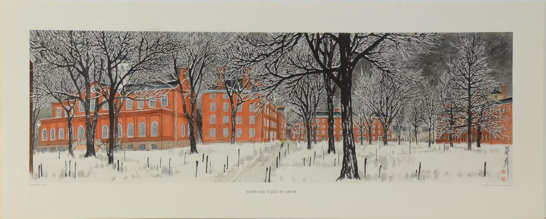 Harvard Yard in Snow: Chiang Yee
