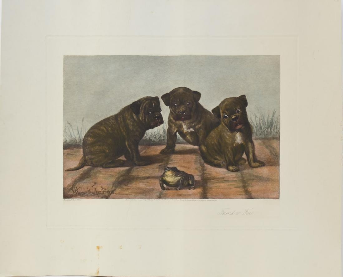 Hansen Walker Bulldog Etching - 2