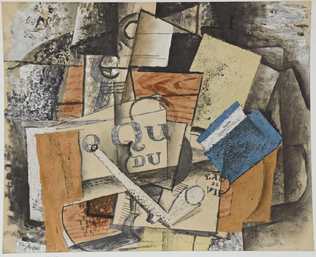 Georges Braque:  Still Life with pipe