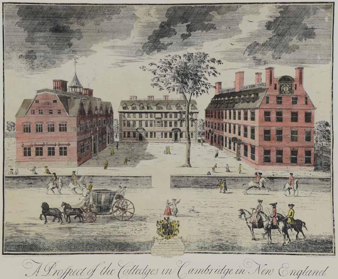 William Burgis's view of Harvard College in 1726