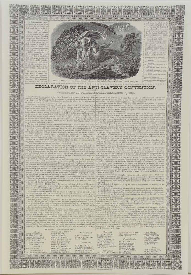 Declaration of the Anti-Slavery Convention 1833