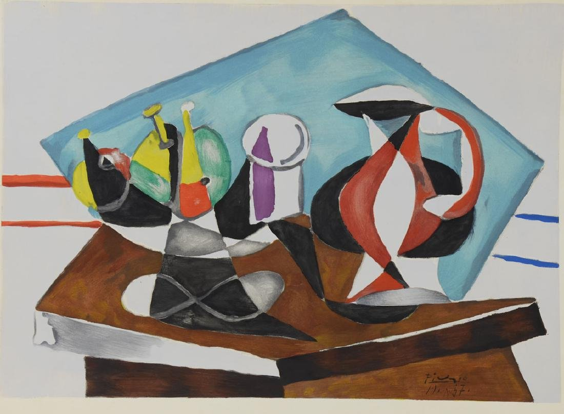 After Picasso Still Life with Pitcher