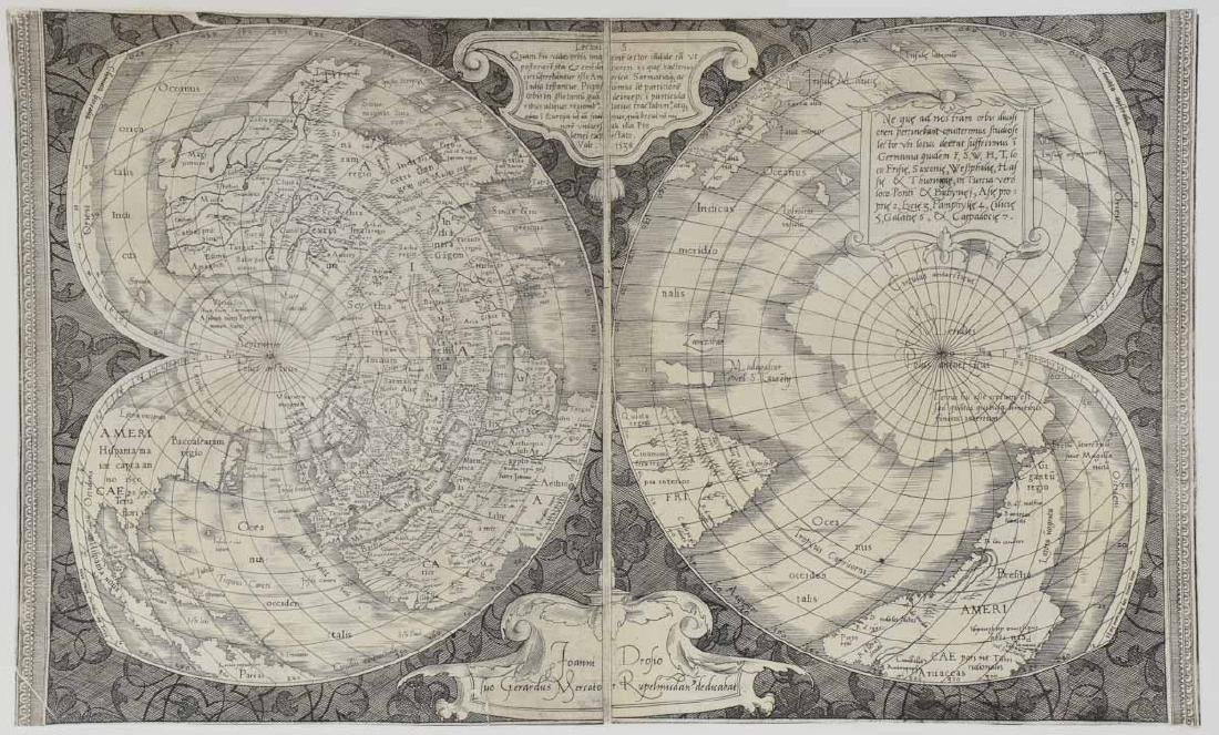 Double Cordiform Map of the world