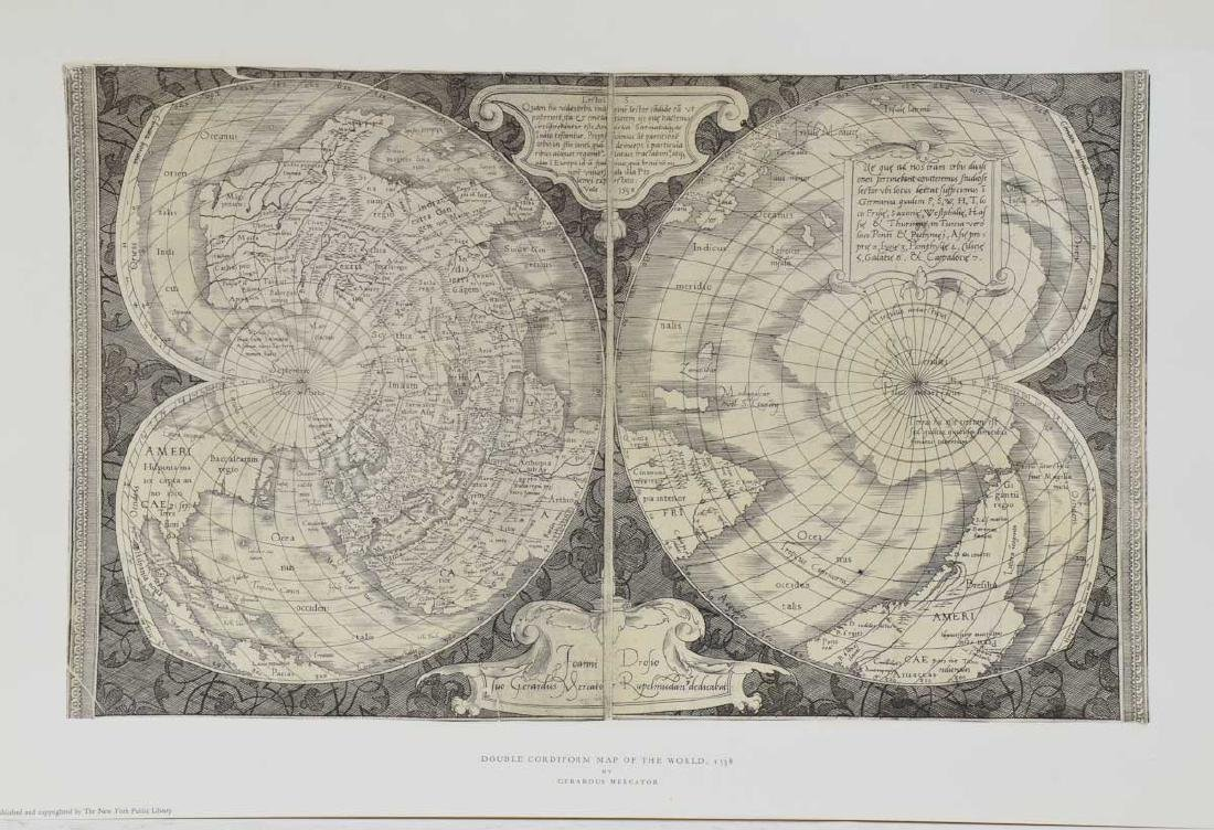 Double Cordiform Map of the world - 2