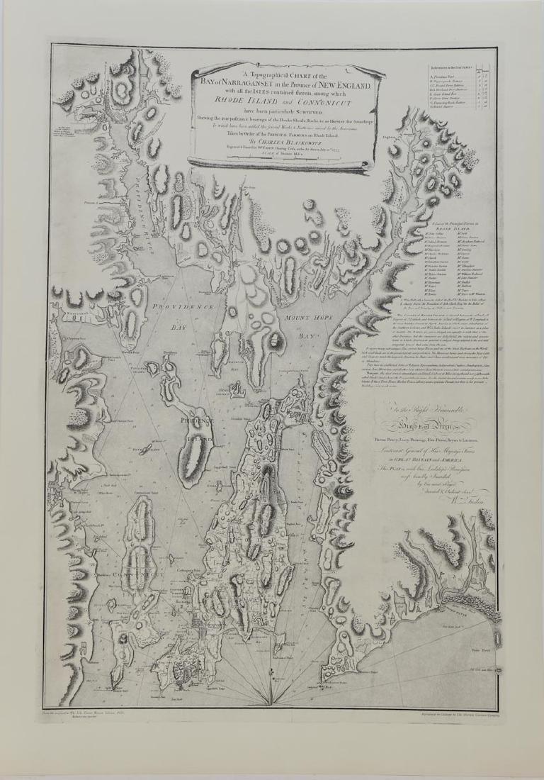 Map of Narragansett Rhode Island