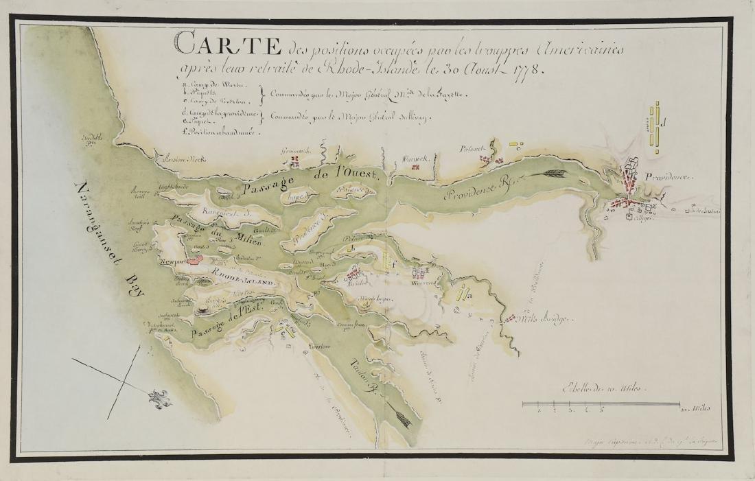 Early Rhode Island Map: