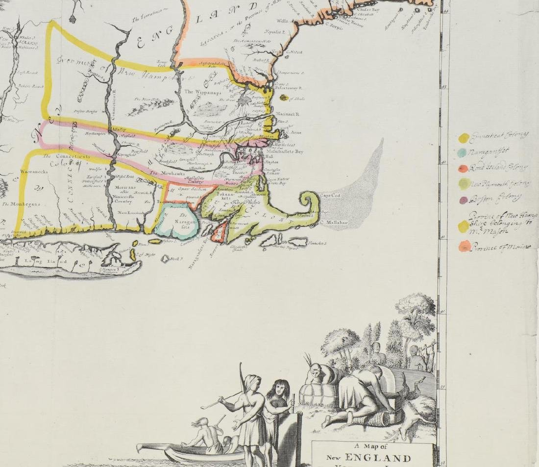 Early Map of New England: Robert Morden - 2