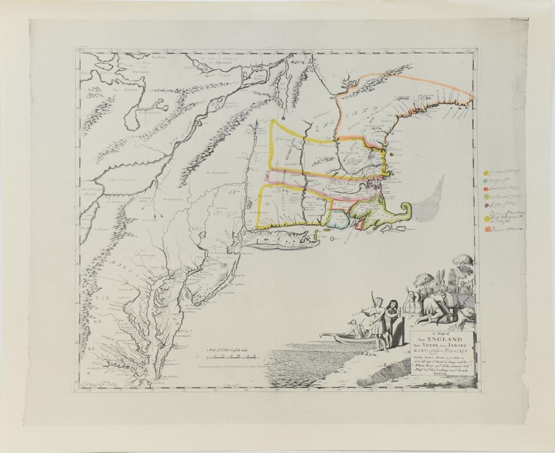 Early Map of New England: Robert Morden - 3