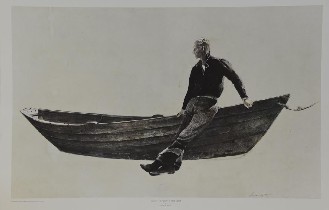Andrew Wyeth Young Fisherman and Dory