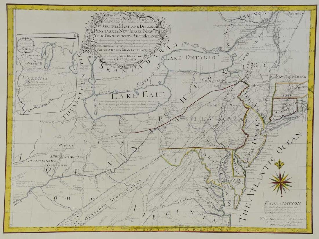 1766 British Colonies Map
