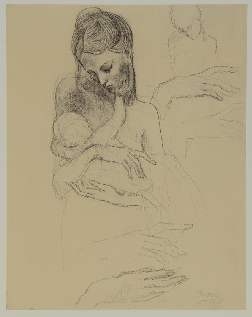 Pablo Picasso: Mother Holding Child