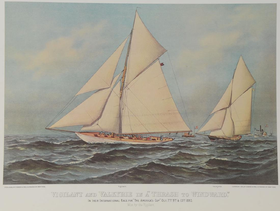 Currier and Ives Americas Cup Print