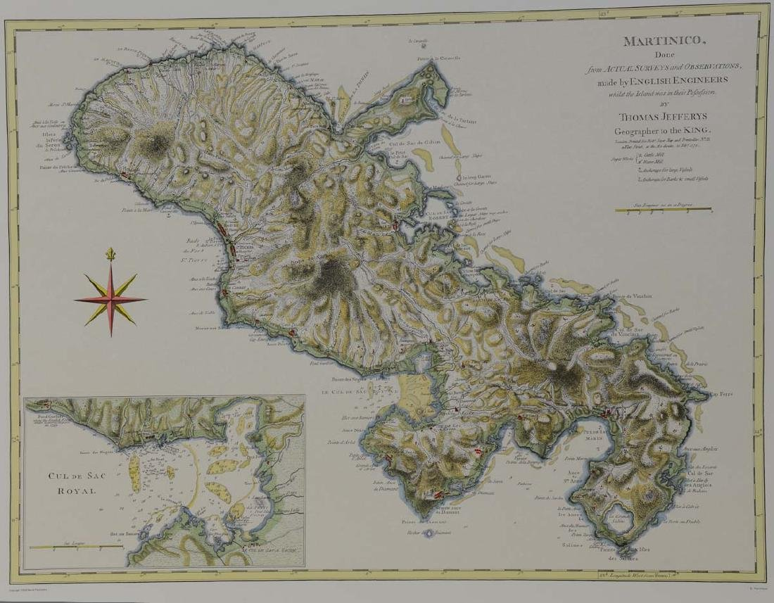 Early Map of Martinico, Martinique