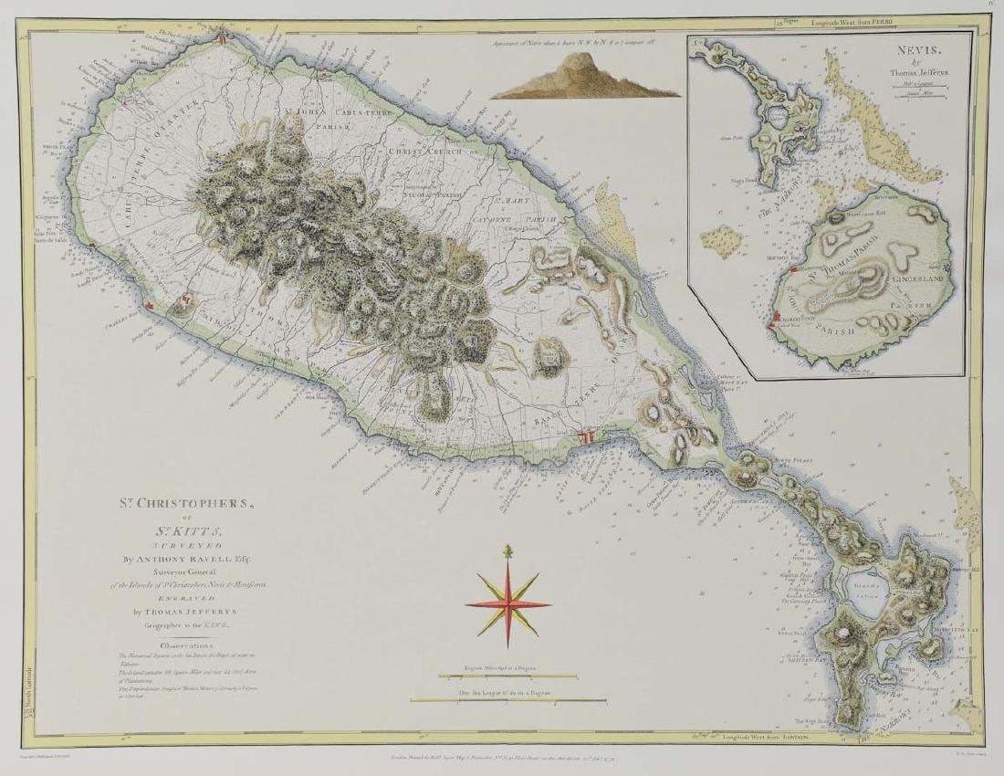 Map of St. Christophers or St. Kitts