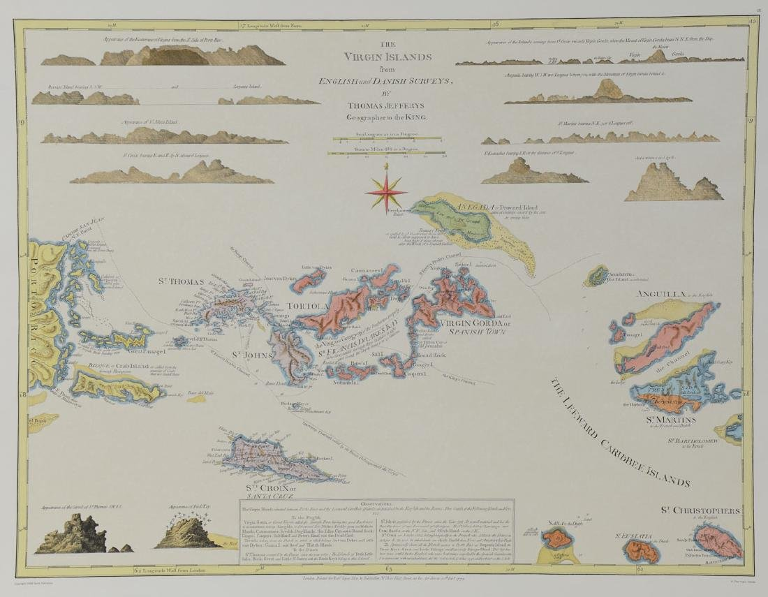 Early Virgin Islands Map