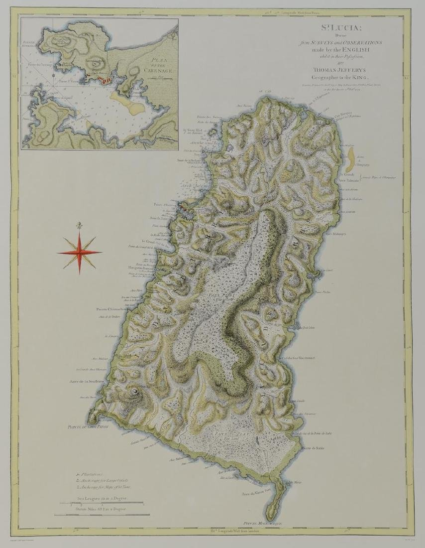 Early Map of St. Lucia