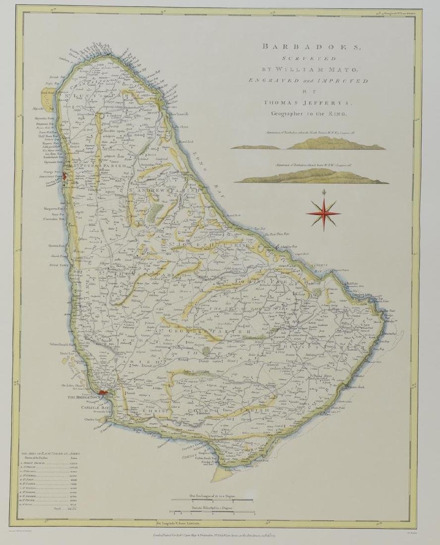 Early Map of Barbados