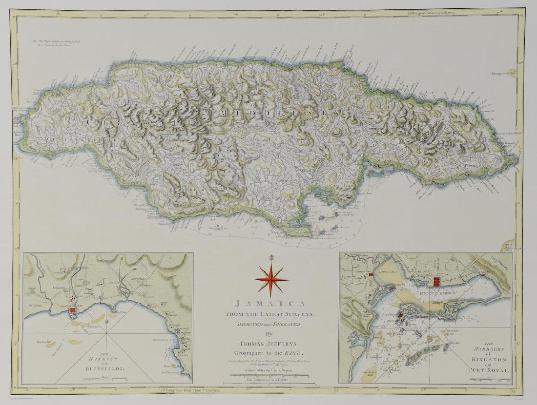 Early Map of Jamaica